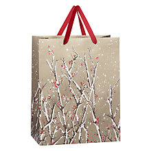 Buy John Lewis Snowy Bough Flitter Bag, Medium, Gold Online at johnlewis.com