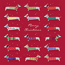 Buy Art File Sausage Dog Christmas Cards, Box of 8 Online at johnlewis.com