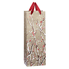 Buy John Lewis Snowy Bough Flitter Bottle Bag, Gold Online at johnlewis.com