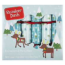 Buy John Lewis Reindeer Dash Crackers, Set of 6 Online at johnlewis.com