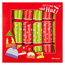 Buy John Lewis Winter Woolie Mini Crackers, Set of 6 Online at johnlewis.com