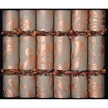 Buy Celebration Crackers Copper Pavone Deli Crackers, Set of 6 Online at johnlewis.com
