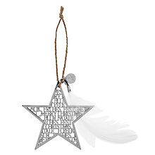 Buy Rader Star Hanging Decoration, Silver Online at johnlewis.com