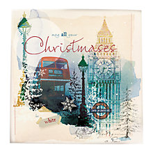 Buy Great British Card Company Peony Rose London Scenes Christmas Card, Box of 16 Online at johnlewis.com
