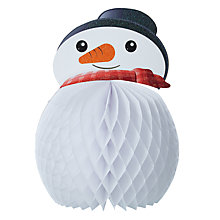 Buy Paper Joy Snowman Honeycomb Tree Decoration Online at johnlewis.com