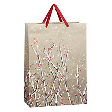 Buy John Lewis Snowy Bough Flitter Bag, Large, Gold Online at johnlewis.com