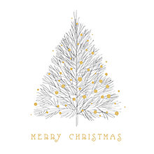 Buy Art File Gold Tree Box Christmas Cards, Box of 8 Online at johnlewis.com
