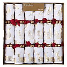 Buy John Lewis Woodland Animals Luxury Crackers, Set of 6 Online at johnlewis.com
