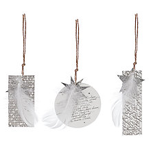 Buy Rader Gold Star Gift Tags, Pack of 3 Online at johnlewis.com