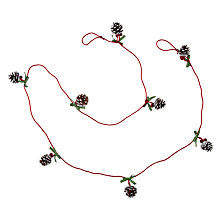 "Buy John Lewis Berry and Pinecone Mini Garland, 6ft 6"" Online at johnlewis.com"
