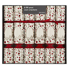 Buy John Lewis Fill Your Own Holly Berry Christmas Crackers, Set of 6 Online at johnlewis.com