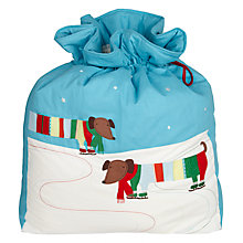 Buy John Lewis Sausage Dog Santa Sack, Multi Online at johnlewis.com