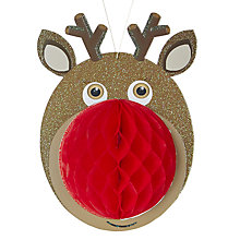 Buy Paper Joy Reindeer Honeycomb Tree Decoration Online at johnlewis.com