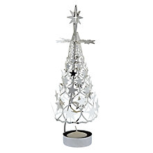 Buy Pols Potten Spinning Tree and Stars Tealight Holder, Large, Silver Online at johnlewis.com