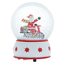Buy John Lewis Father Christmas on Bicycle Musical Snow Globe Online at johnlewis.com