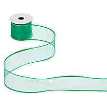 Buy John Lewis Glitter Ribbon, 3m, Green Online at johnlewis.com