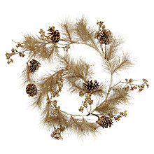 Buy John Lewis Pinecone Garland, 6ft, Metallic Gold Online at johnlewis.com