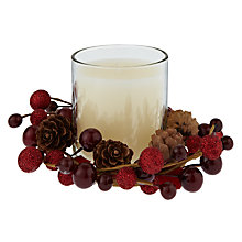 Buy John Lewis Christmas Past Berry Votive Candle, Red Online at johnlewis.com