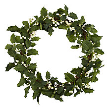 Buy John Lewis Holly White Berry Wreath Online at johnlewis.com