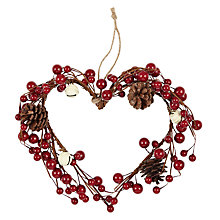 Buy John Lewis Christmas Past Heart and Bell Wreath Online at johnlewis.com