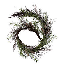 Buy John Lewis Croft Collection Frosted Pinecone Garland, 6ft Online at johnlewis.com