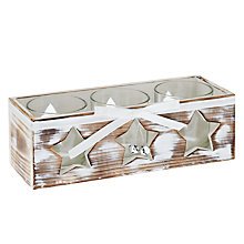 Buy John Lewis Wooden Star Trio Tealight Holder Online at johnlewis.com