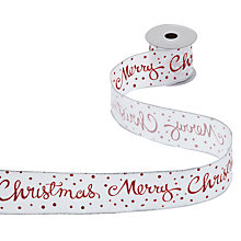 Buy John Lewis Merry Christmas Ribbon, x3m Online at johnlewis.com