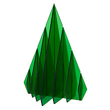 Buy John Lewis Acrylic Christmas Tree, Green Online at johnlewis.com