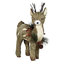 Buy John Lewis Standing Reindeer Decoration Online at johnlewis.com