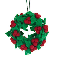 Buy Felt So Good Holly Wreath Online at johnlewis.com