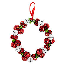 Buy John Lewis Bell Wreath Red/White Online at johnlewis.com