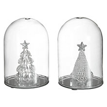 Buy John Lewis Croft Collection Assorted Glass Domes With Tree Online at johnlewis.com