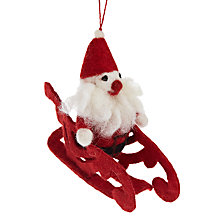 Buy Felt So Good Santa On Sleigh Decoration Online at johnlewis.com
