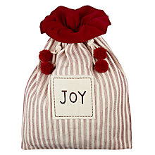Buy Red And White Stripe Christmas Sack Online at johnlewis.com