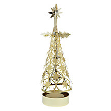 Buy Spinning Star Tree Tealight Holder, Gold Online at johnlewis.com