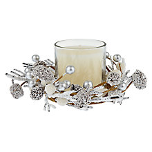Buy John Lewis Croft Collection Silver Berry Candle Ring Online at johnlewis.com