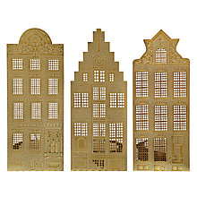 Buy John Lewis Canal Houses Tealight Holders, Set of 3 Online at johnlewis.com