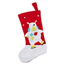 Buy John Lewis Felt Polar Bear Stocking, Multi Online at johnlewis.com