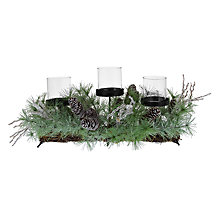 Buy John Lewis Greenery 3 Pillar Candle Holder Online at johnlewis.com