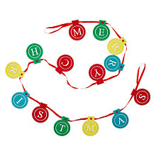 Buy John Lewis Merry Christmas Bauble Felt Garland, 6ft Online at johnlewis.com