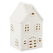 Buy John Lewis Ceramic House Tealight Holder Online at johnlewis.com