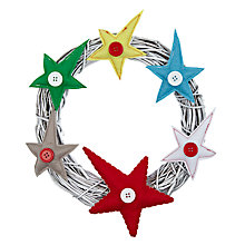 Buy John Lewis Felt Star Wreath, Multi Online at johnlewis.com