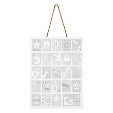 Buy John Lewis Croft Collection Paper Hanging Advent Calendar Online at johnlewis.com
