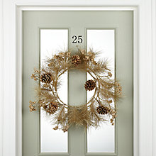 Buy John Lewis Metallic Pinecone Wreath, Gold Online at johnlewis.com