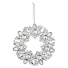 Buy John Lewis Croft Collection Snowflake Wreath, Silver Online at johnlewis.com