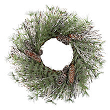 Buy John Lewis Croft Collection Frosted Pine Cone Wreath Online at johnlewis.com