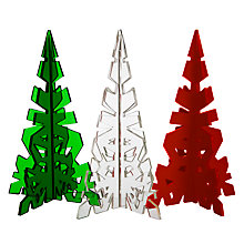 Buy House by John Lewis 3D Acrylic Trees, Pack of 3 Online at johnlewis.com