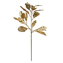 Buy John Lewis Magnolia Leaf Stem, Gold Online at johnlewis.com