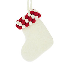 Buy Felt So Good Bobble Mini Stocking Decoration Online at johnlewis.com