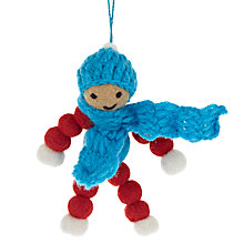 Buy Felt So Good Bobble Boy Decoration Online at johnlewis.com